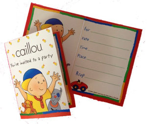 Caillou Birthday Party Invitations (8 Count)