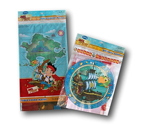 Jake And The Neverland Pirates Party Supply Set - Table Cover And Banner By Hallmark Party