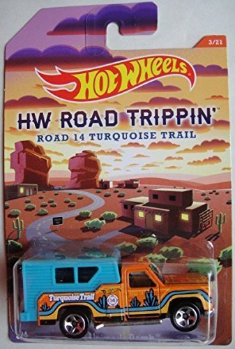 Hot Wheels Road Trippin' Turquoise Trail Orange/Teal Backwoods Bomb Die-Cast