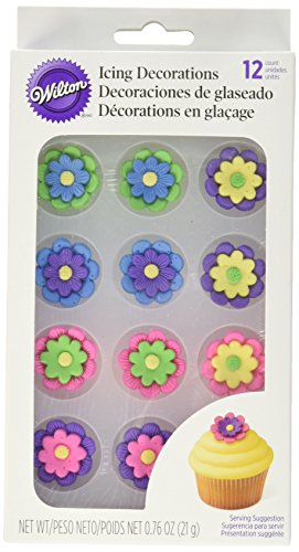 Wilton Royal Icing Decorations , 1 , Multicolor Flowers