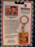 Elvis Presley Postmark Collection Stamp Keychain