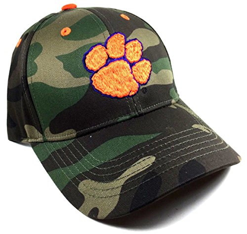 Solid Clemson Tigers Woodland Camo Hat