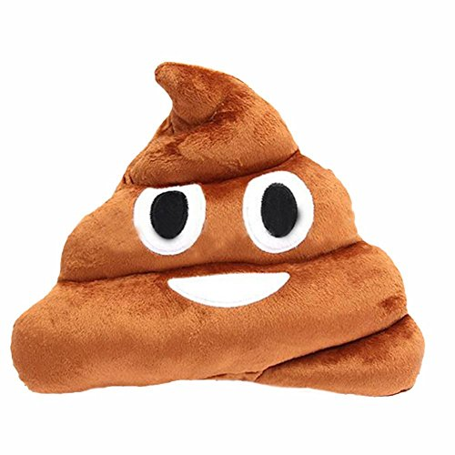 Emoji Poop Emoticon Cushion Pillow Stuffed Plush Toy (Poop)