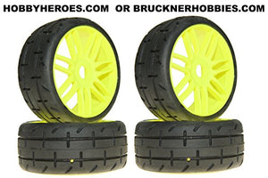 Grp Gt Treaded Tires On New Yellow Rims S4 - Soft Compound