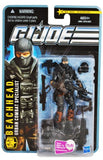 G.I. Joe Mission  The Pursuit Of Cobra - City Strike  Series 4 Inch Tall Action Figure - Urban Combat Specialist Beachhead With Gas Mask, Pistol, 2 Assault Rifle, Machine Gun, 2 Sub-Machine Guns And Display Stand