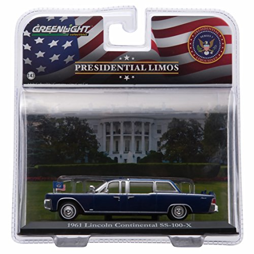 President John F. Kennedy'S 1961 Lincoln Continental Ss-101-X * Presidential Limos Series One * 2016 Greenlight Collectibles 1:43 Scale Die-Cast Limousine
