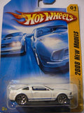 Hot Wheels 2008 New Models '07 Shelby Gt-500 (White) 001/196