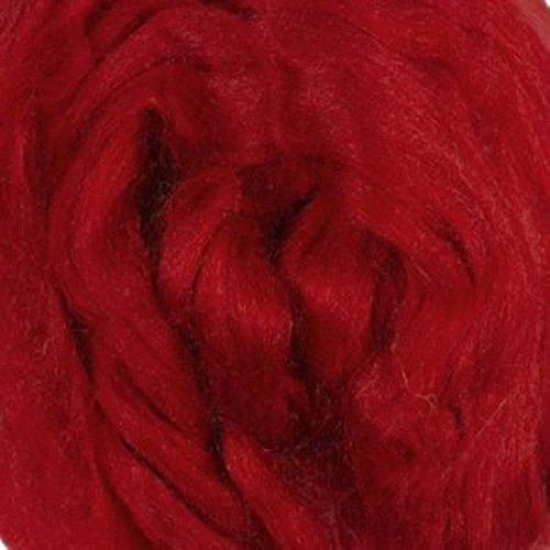 Tussah Silk Tops For Felting And Spinning One Ounce (Fire)