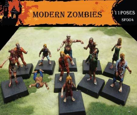 Fantasy Series: Modern Zombies (Caesar Miniatures) - 1/72 Scale