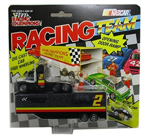1994 Racing Champions Rusty Wallace #2 Nascar Team Transporter Penske Racing 1:87 Semi Tractor Trailor