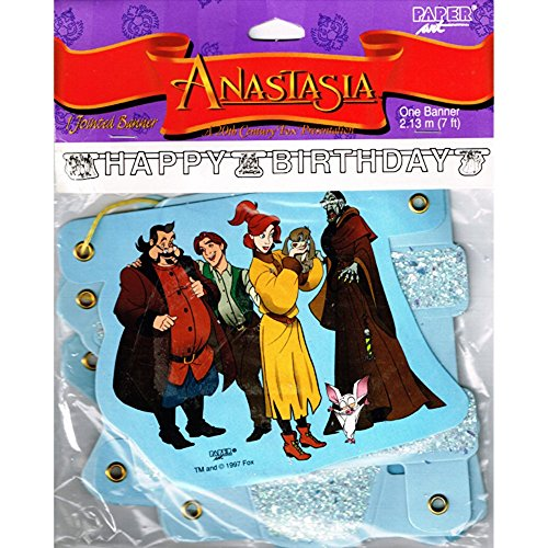 Anastasia Vintage 1997 Happy Birthday Banner (7Ft)