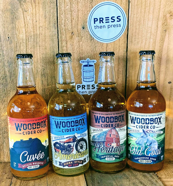 4 pack of Woodbox ciders