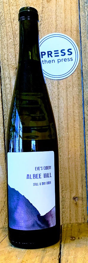 Eve's Cidery 2018 Albee Hill 750 mL (7% ABV) FLORAL COMPLEX TANNINS