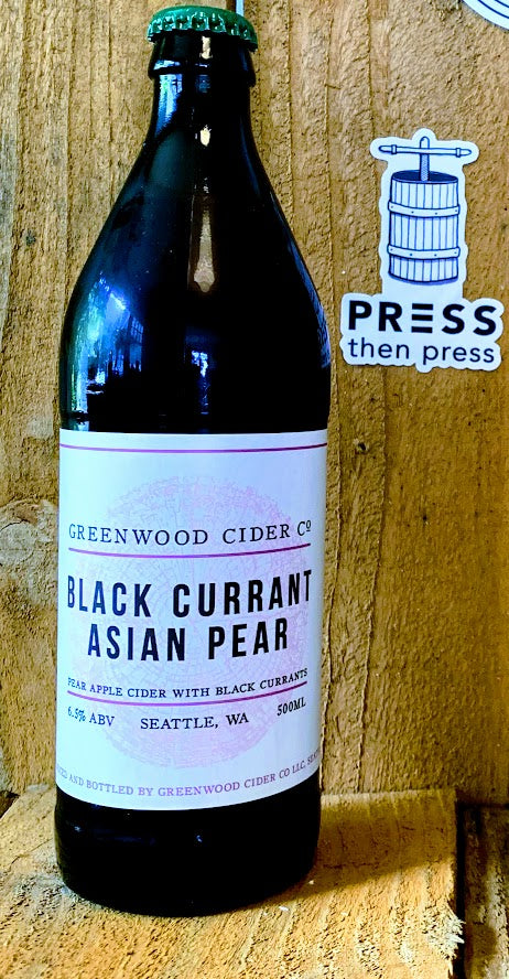 Greenwood Cider Black Currant Asian Pear 500 mL (6.5% ABV)