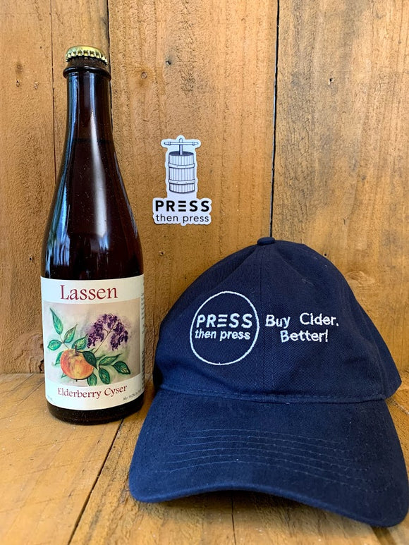 Lassen Traditional Elderberry Cyser 500 mL (9% ABV) DELIGHTFUL PINK GLOW