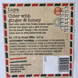 Chatter Creek Luya 500 mL (6.9 % ABV) GINGER BOLD HONEY