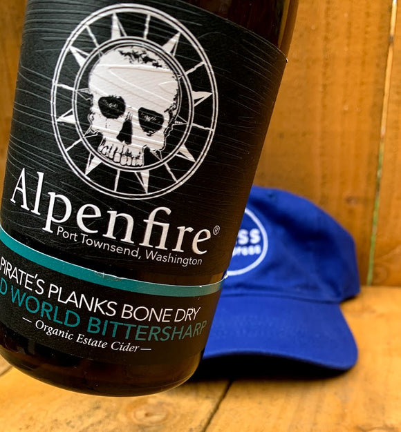 Alpenfire Pirate's Planks 500 mL (6.9% ABV) DRY PIRATE WINNER Organic and Sulfite Free