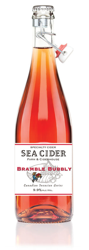 Sea Cider Bramble Bubbly 750 mL (9.9% ABV) BRAMBLE ON PATIO
