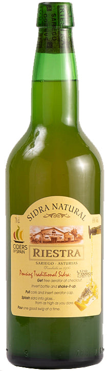 Sidra Natural Riestra 700 mL (6.5% ABV)