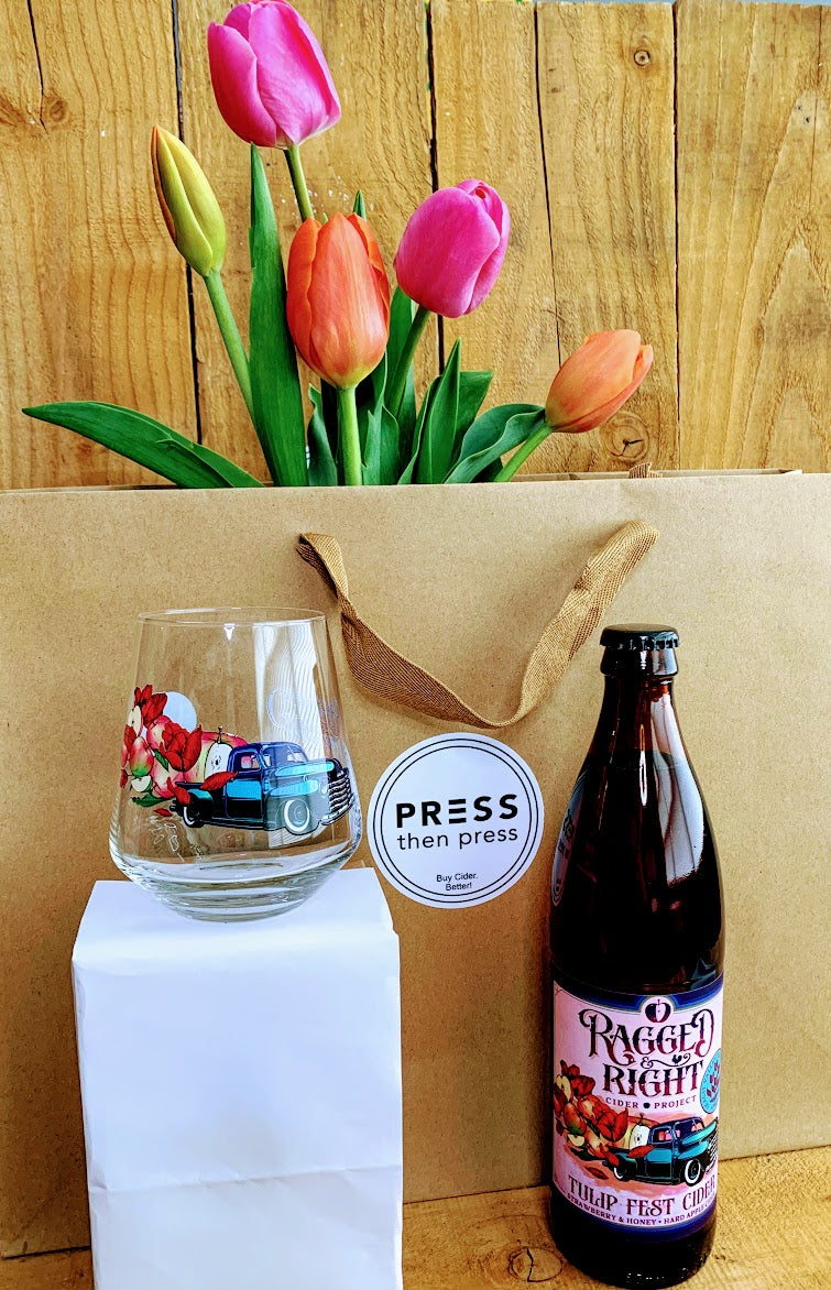 Ragged & Right Tulip Fest Cider with Keeper Glass