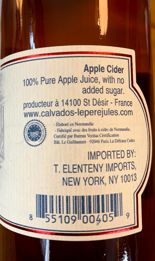 Le Père Jules Cidre Brut 330 mL (5% ABV) LITTLE CIDER PUNCH