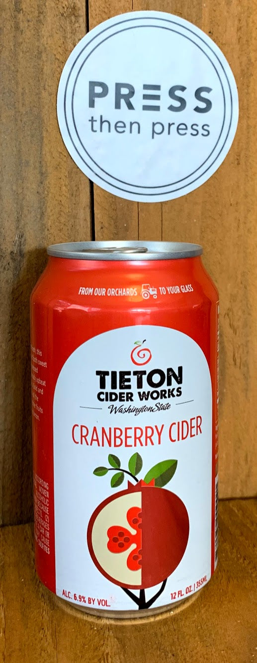 Tieton Cranberry 355 mL - 1 CAN (6.9% ABV) LOVE THIS EH-TON