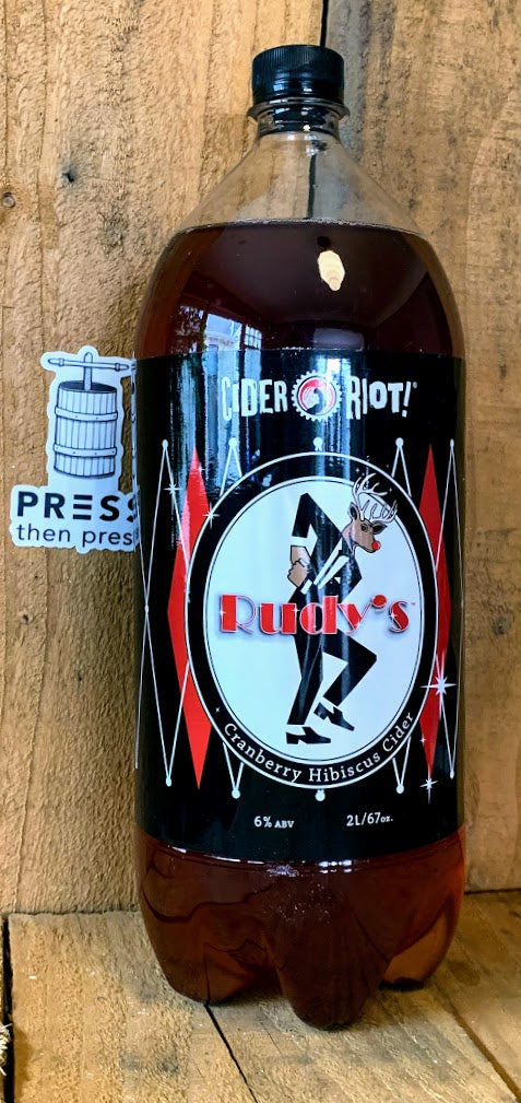Cider Riot Cranberry Hibiscus 2L !!! (6% ABV) BIG RED RUDY!