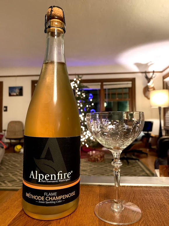 Alpenfire Flame - 2016 Methode Champenoise 750 mL (8.5% ABV) WILD DRY BUBBLES