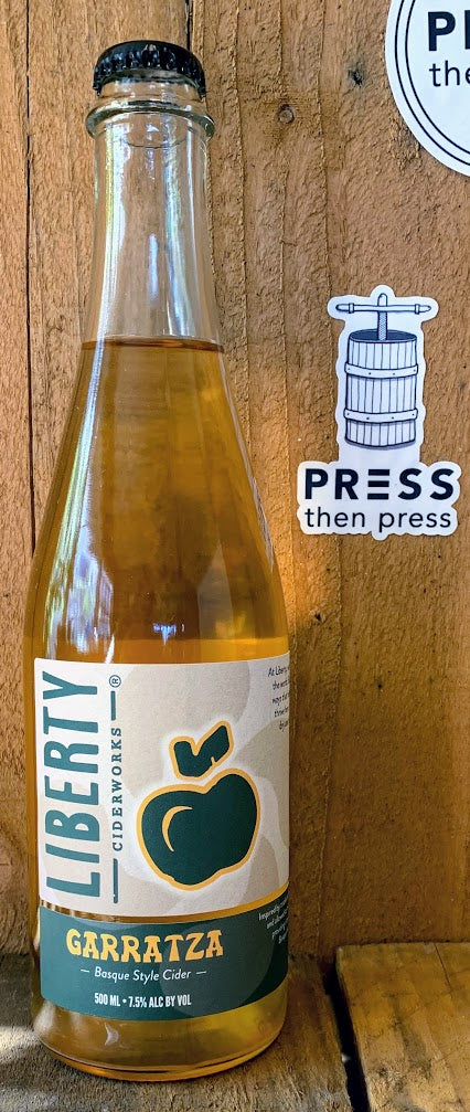 Liberty Ciderworks Garratza 500 mL (7.5% ABV) TIGHT LIGHT LONG