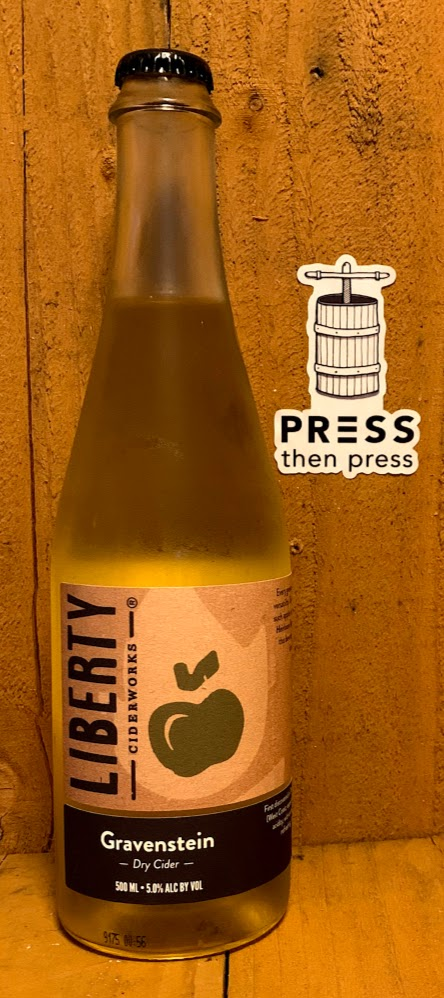 Liberty Ciderworks Gravenstein SV 500 mL (5% ABV) CRAVE THE GRAVY
