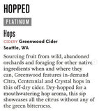 Greenwood Cider Hops 500 mL (7.8% ABV) HOPPY EVERY TIME