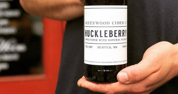 Greenwood Cider HuckleBerry 500 mL (7.8% ABV) TART HUCKLE HAPPY
