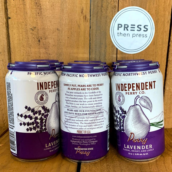 Independent Perry Lavender 6 CANS 355 mL (5.8% ABV) LAVIN IT UP
