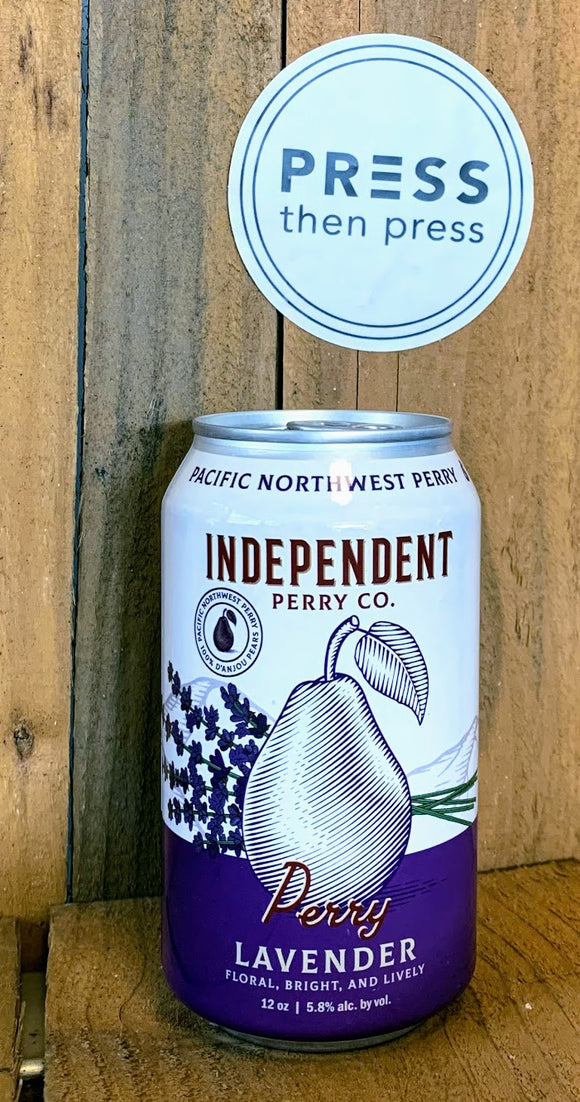 Independent Perry Lavender 1 CAN 355 mL (5.8% ABV) LAVIN IT UP