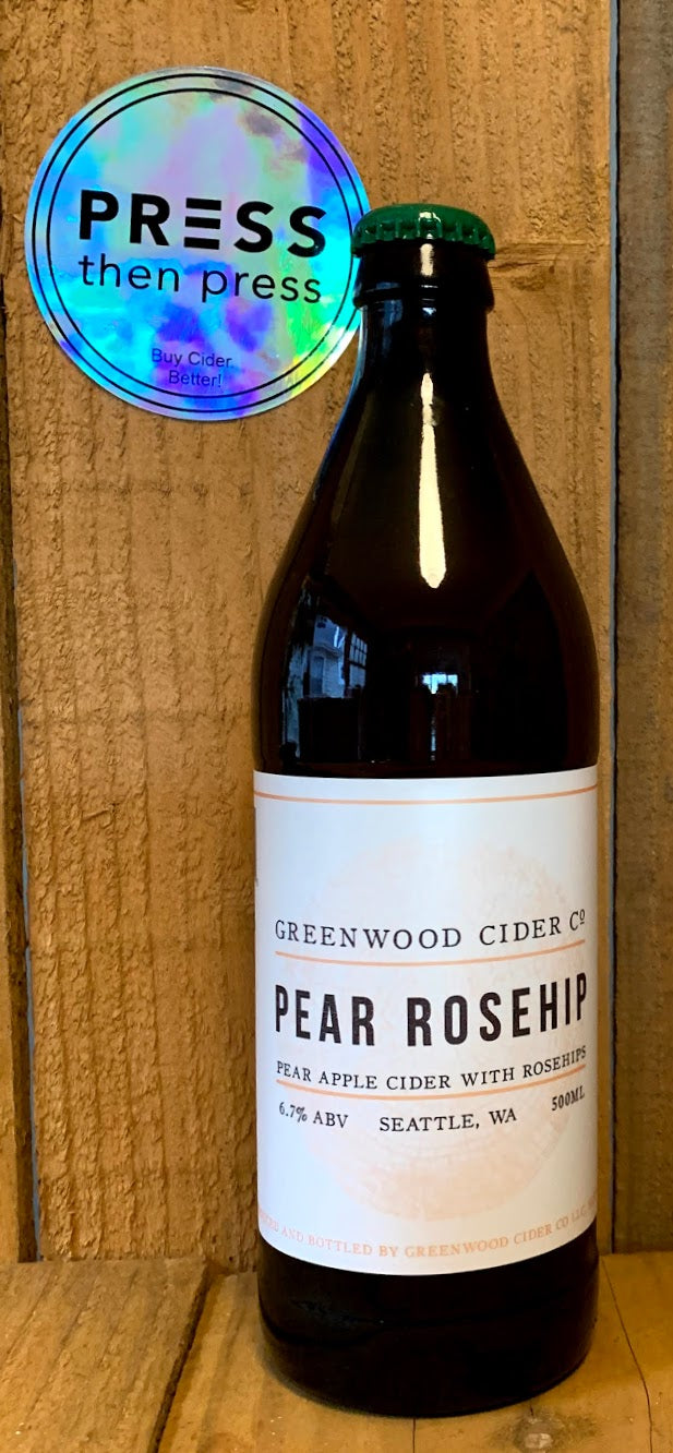 Greenwood Cider Pear Rosehip 500 mL (6.7% ABV) WHAT IF I TOLD YOU