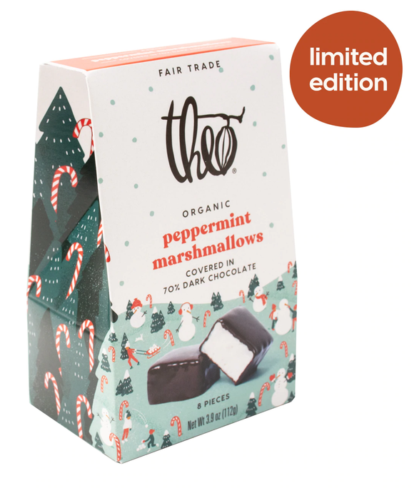 THEO Peppermint Marshmallows (8pc box)