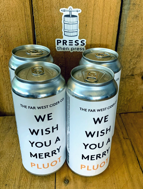 Far West Cider WE WISH YOU A MERRY PLUOT - 473 mL x 4 cans (5.1% ABV) QUIET THE NOISE
