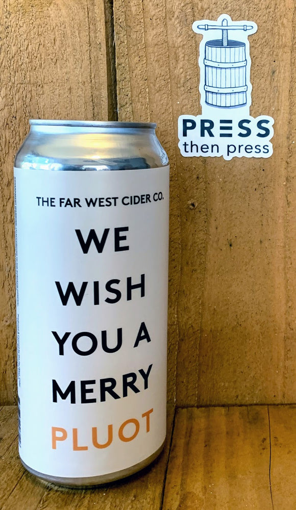 Far West Cider WE WISH YOU A MERRY PLUOT - 1 CAN - 473 mL (5.1% ABV) QUIET THE NOISE