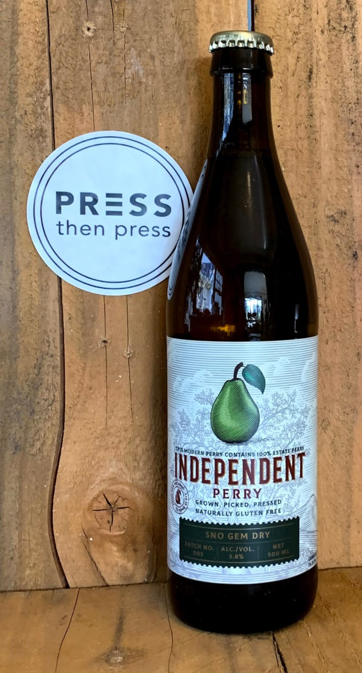 Independent Perry Sno Gem Dry 500 mL (6.1% ABV) FLAGSHIP KISS SNOGEM