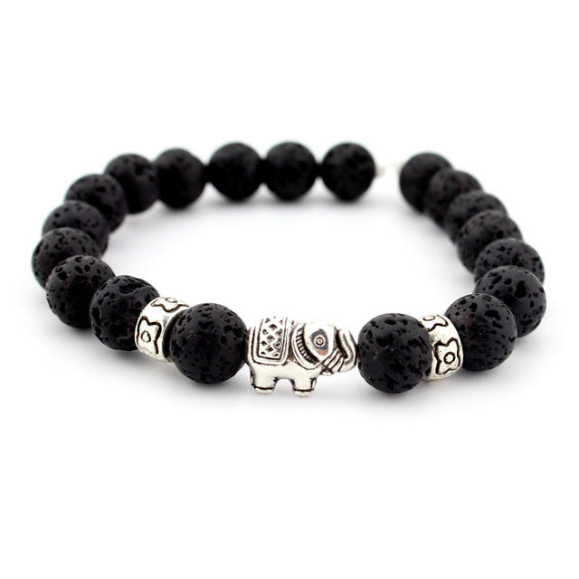 The Elephant Bracelet - Lave Stone