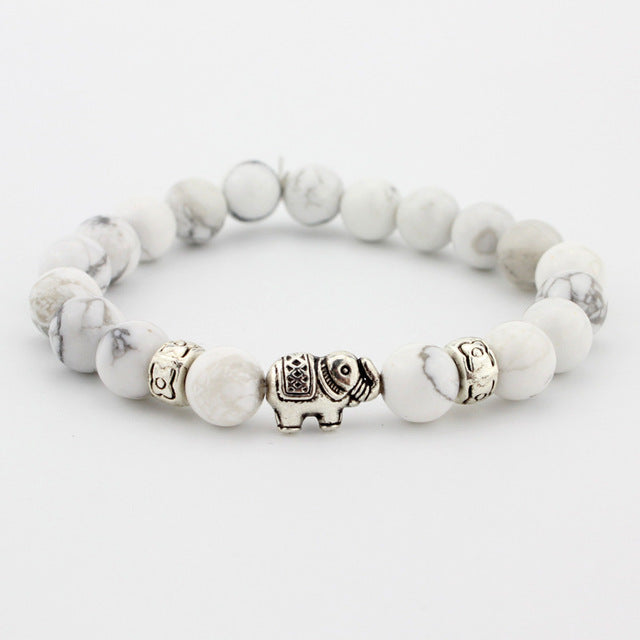 The Elephant Bracelet - White Turquoise