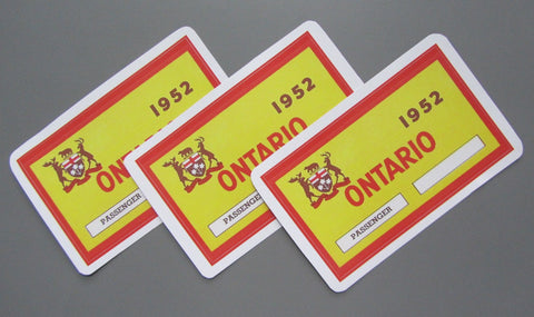 1952 Peel 'n Stick Replica Windshield Decals
