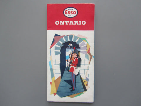 1959 Ontario Road Map - Esso
