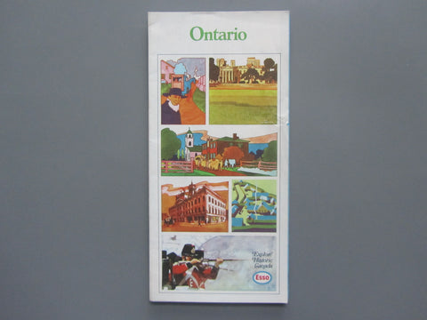 1970 Ontario Road Map - Esso