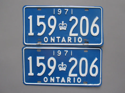 Copy of 1971 YOM Clear Ontario License Plates