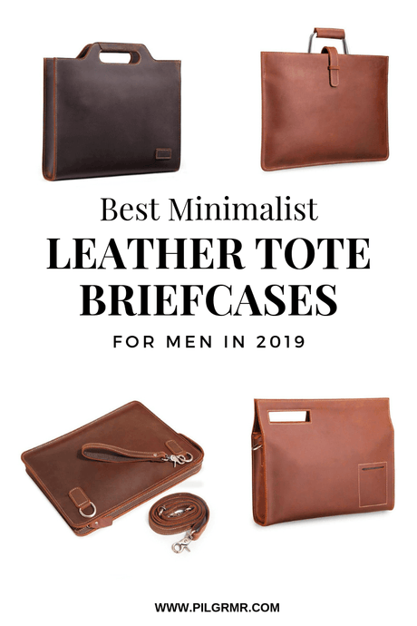 Minimalist Leather Briefcases