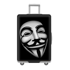 disney luggage cover anonymous mask