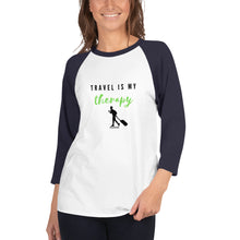 Load image into Gallery viewer, Travel Is My Therapy Shirt