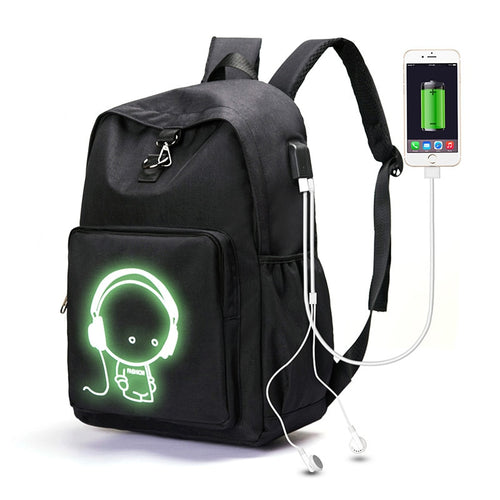 Illuminating Backpack usb charger