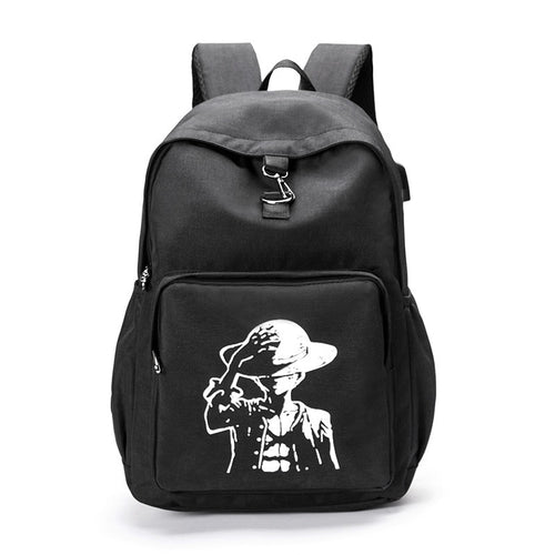 USB Charging  Glow In The Dark Anti Theft Canvas Backpack - PILGRMR